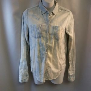 Tops - Hollister Distressed Denim Long Sleeve, XS